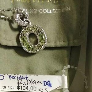Judith Ripka Rare Peridot Pendant with chain.